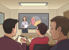 Business meeting in a boardroom Stock Photography