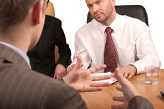 Business meeting - body langua Stock Photo