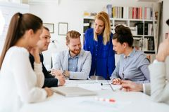 Business meeting and brainstorming stock images