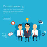 Business meeting and brainstorming. Flat design Royalty Free Stock Image