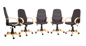 Business meeting - brown chairs Stock Images