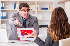 The business meeting between businessman and businesswoman Stock Photo