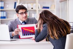 The business meeting between businessman and businesswoman Stock Photography