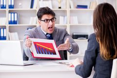 The business meeting between businessman and businesswoman Stock Photos