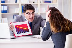 The business meeting between businessman and businesswoman Royalty Free Stock Photography