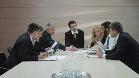 Business meeting. stock footage
