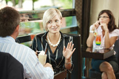 Business meeting in cafe Stock Photography