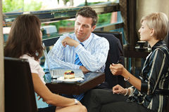Business meeting in cafe Royalty Free Stock Photo