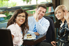 Business meeting in cafe Stock Photo