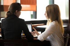 Business meeting in cafe Royalty Free Stock Photography