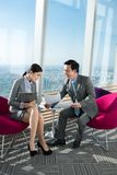 Business meeting in cafe Royalty Free Stock Photos