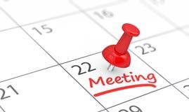 Business Meeting Calendar Reminder royalty free stock photo