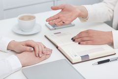 Business meeting with client Stock Photography