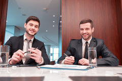 Business meeting with colleagues Stock Photos