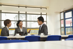 Business meeting in company cafeteria Stock Photography