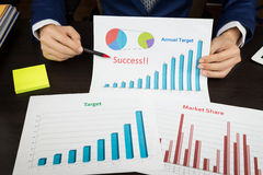 Business meeting concept, achieve target, success Royalty Free Stock Photos
