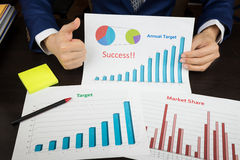 Business meeting concept, achieve target, success Royalty Free Stock Images