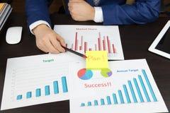Business meeting concept, achieve target, success Stock Photo