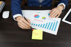 Business meeting concept, achieve target, success Stock Photography