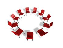 Business meeting concept with chairs. Stock Image