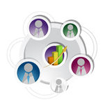 Business meeting concept illustration Royalty Free Stock Photography