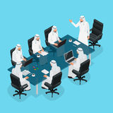Business meeting concept, International Business, Arabic businessman presenting his ideas to colleagues for success. Investments at bright modern office room Stock Image