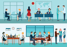 Business meeting conceptual vector illustration. Royalty Free Stock Photos