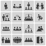 Business meeting and conference icons set Stock Photography