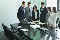 Business Meeting in a Conference Room Royalty Free Stock Photography