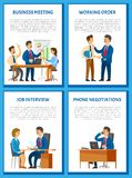 Business Meeting, Conference of Team with Boss royalty free illustration