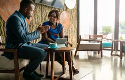 Free Business Meeting Consultation By Black African Financial Adviser With Flair Copyspace Royalty Free Stock Image - 185527596