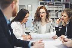 Business meeting and teamwork by business people Stock Images