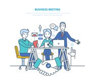 Business meeting. Corporate partnership meeting, cooperation negotiations, discussion business strategies. Business meeting. Corporate partnership meeting Stock Photo