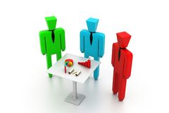 Business meeting. 3d illustration of Business meeting Stock Images