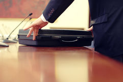 Business meeting detail Stock Photography