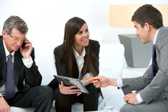 Business meeting with digital tablet. Stock Photography