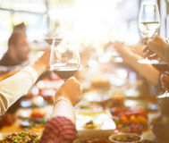 Business Meeting Eating Cheers Happiness Concept Royalty Free Stock Image