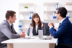 The business meeting with employees in the office. Business meeting with employees in the office Stock Images