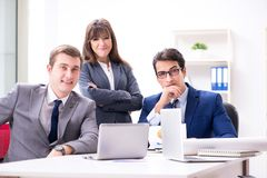The business meeting with employees in the office. Business meeting with employees in the office Royalty Free Stock Image