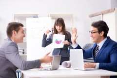 The business meeting with employees in the office. Business meeting with employees in the office Royalty Free Stock Images