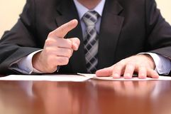 Business meeting expressions Stock Photography