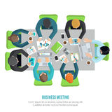 Business Meeting Flat Royalty Free Stock Images