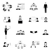 Business meeting flat icons set Stock Images