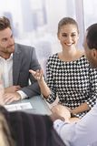 Business meeting in good mood Royalty Free Stock Photography