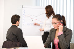 Business meeting - group of people in office Stock Image