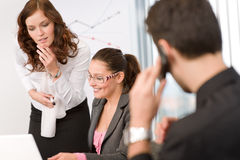 Business meeting - group of people in office Royalty Free Stock Images