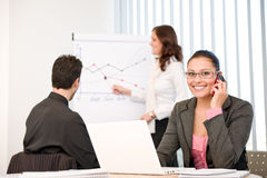Business meeting - group of people in office Stock Photo