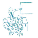Business meeting hand drawn vector. Sketch Royalty Free Stock Images