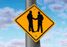 Business meeting hand shake agreement deal sign Stock Photography