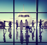 Business Meeting Handshake Airport Concept Royalty Free Stock Photos